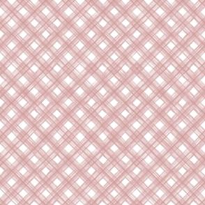 Shibori Check - Blush
