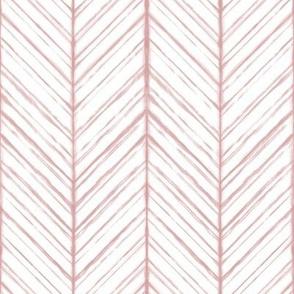Shibori Herringbone Light - Blush