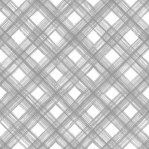 Shibori Check- Gray