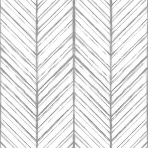 Shibori Herringbone Light - Gray