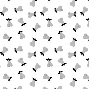 Little Scandinavian pears sweet autumn garden notanical fruit nursery neutral baby gray black and white