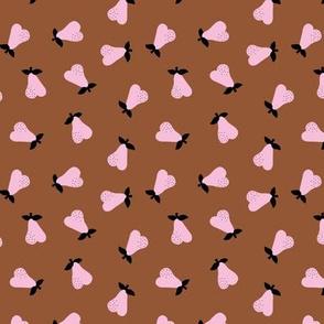 Little Scandinavian pears sweet autumn garden notanical fruit nursery neutral baby rust pink