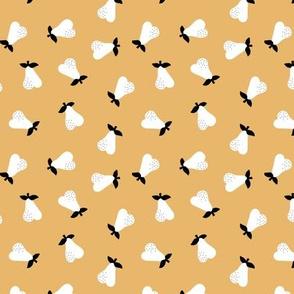 Little Scandinavian pears sweet autumn garden notanical fruit nursery neutral baby white honey yellow