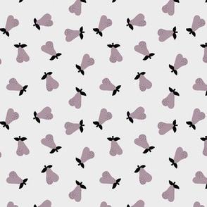 Little Scandinavian pears sweet autumn garden notanical fruit nursery neutral baby mauve purple