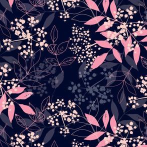 Pink Elderflower on Blue