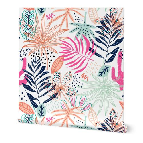 Tropical creative pattern