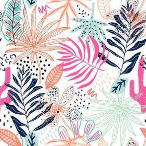 Tropical creative pattern