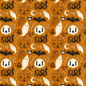 Retro Halloween on Orange