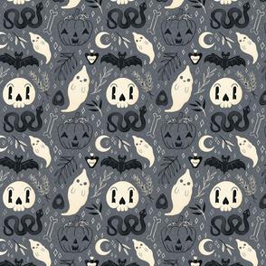 Retro Halloween on Grey