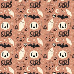 Retro Halloween on Pink