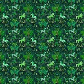 Irish Unicorns in the Celtic Woods (tiny scale)