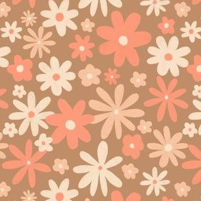Woah florals - toffee - tight