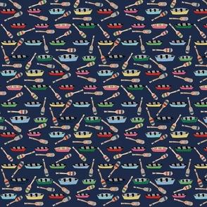 canoe paddles navy blue - MED 84