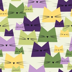 cats - nala cat lavender - geometric cats