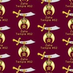 """Custom 3 Large 2"""" Shriners Red Logo. You must contact designer BEFORE you place your order. Fabric print just like the preview shows."""
