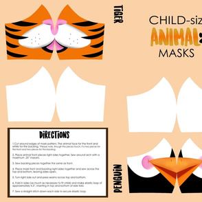 Child Tiger and Penguin Face Mask