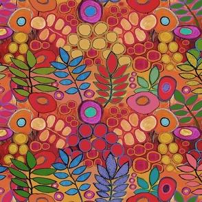Indigo Tie Dyed Batik Quilt - Large Scale