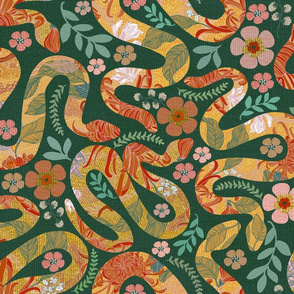 Golden Garden Snakes Forest