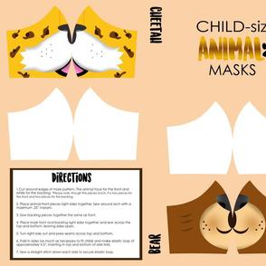 Childrens Bear and Cheetah Mask