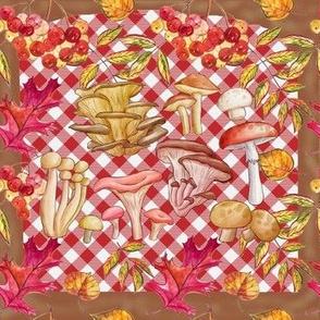 Autumn Mushroom Harvest Picnic