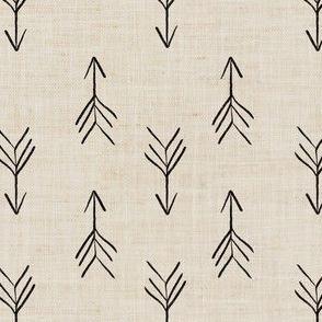 Cream Sketch Linen Effect Boho Arrows