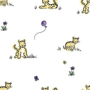 Purple and Yellow Baby tigers