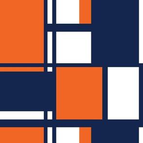 Navy and Orange Team color Color Block