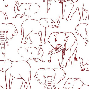 Crimson and Grey Team Color Elephants 1