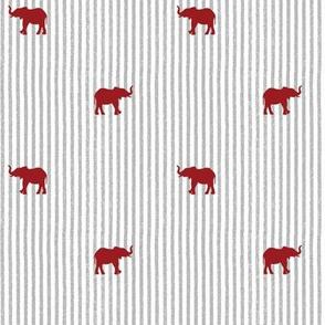 Crimson and Grey Team Color Elephant Seersucker1