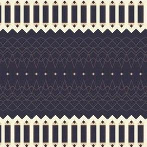 Navy & Ivory & Gold Stripes