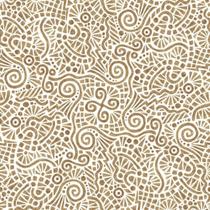 crayon doodles in brown