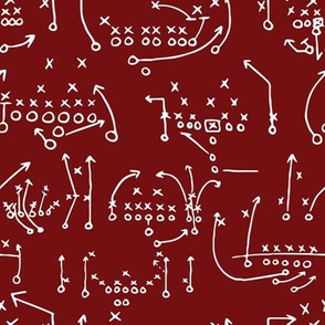 Garnet and Black Team Color x's and o's 1