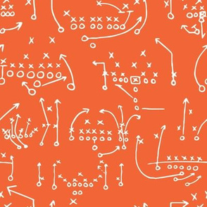 Orange and Purple Team Color x's and o's 2