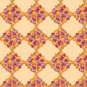 Floral Checks (Apricot)