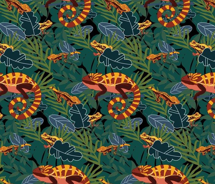 Orange Reptiles