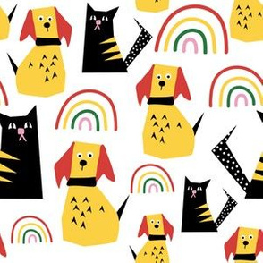 Rainbow Cats and Dogs