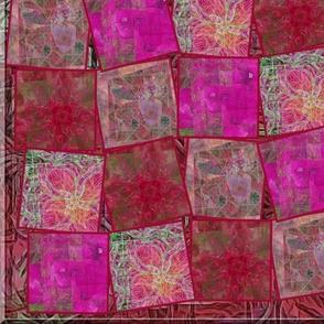 Ruby & Garnet Blooms Collage