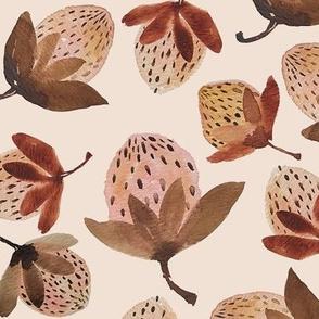 fall strawberry on blush