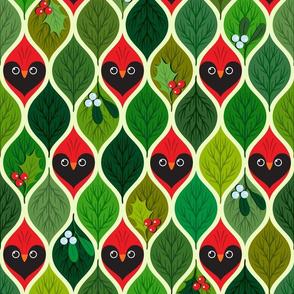 Hide'n'seek cardinals - Christmas - small scale