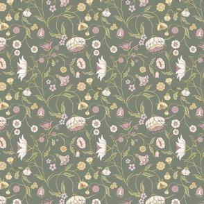Bella Nora green floral climbing pattern
