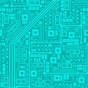 Robot Circuit Board (Teal)