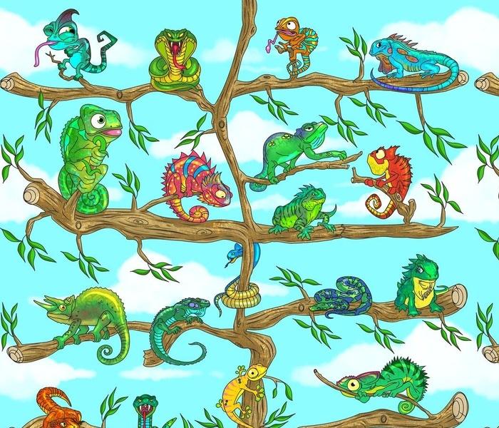colored reptiles