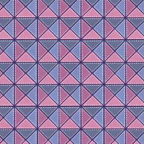 Triangle Block Quilt Pattern Pink/Purple