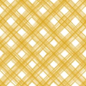 Shibori Check - Goldenrod