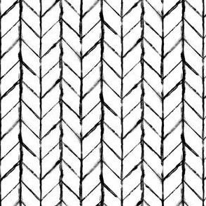 Shibori Braids - Black and White