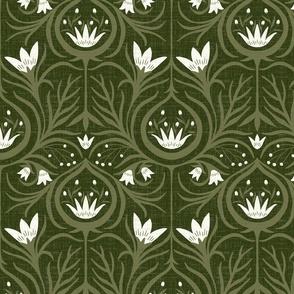 Floral escape - olive and sage