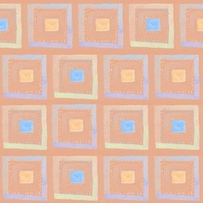 Watercolor squares 1