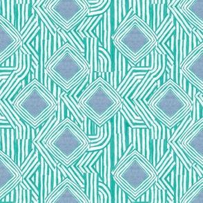 Jasper Diamond Stripe in Turquoise