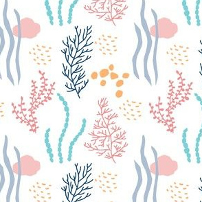 Ocean plants seamless background