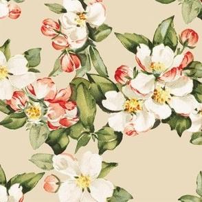 Hudson Floral in Beige